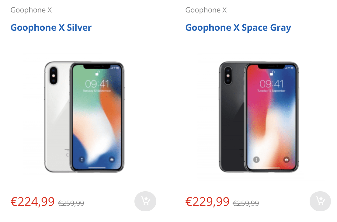 smartphone simile a iPhone
