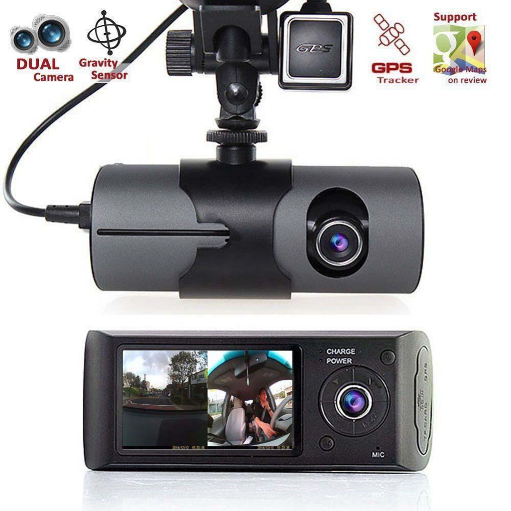 """2017 Nuovo Dash Fotocamera da 2.7 """"Dell'automobile DVR Del Veicolo Della Macchina Fotografica Video Recorder Dash Cam G-Sensore GPS Doppia Len fotocamera"""