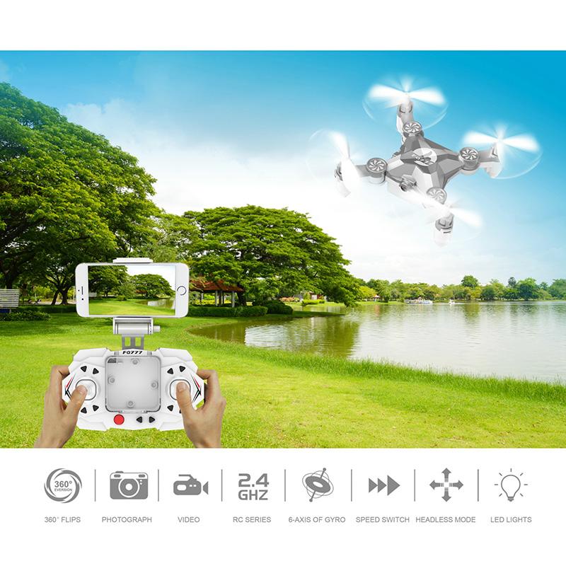 FQ777 FQ11W Drone 4CH 6 Assi Con Wifi FPV