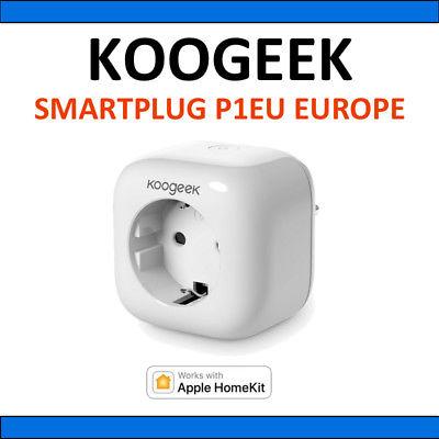 Koogeek Smart Plug, WiFi Socket Out let Works With Appl e HomeKit On 2.4GHz P1EU