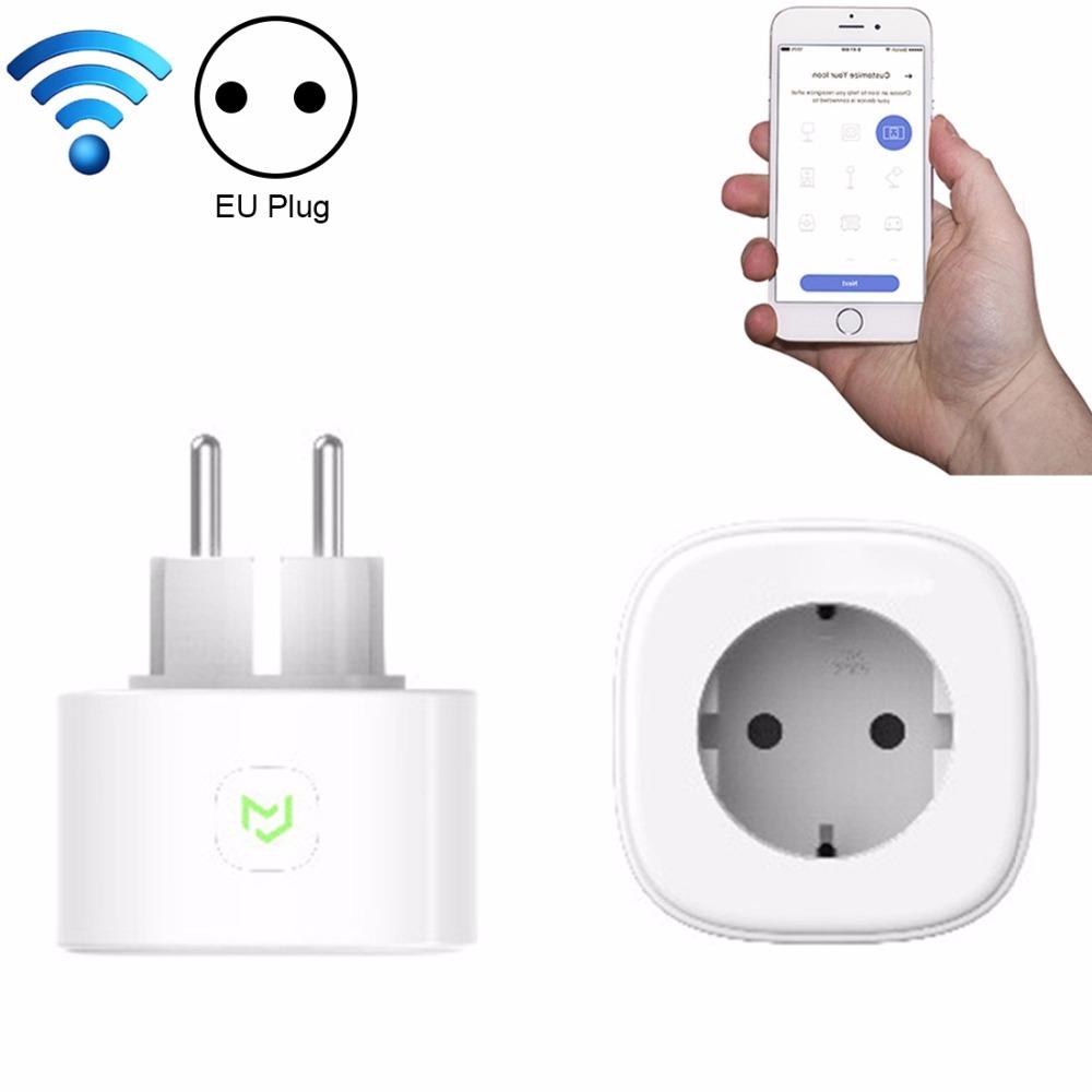 Meross Domotica Telecomando Telefono Voice Control Wifi Smart Plug presa di Lavoro con Google casa Amazon Alexa, Spina di UE