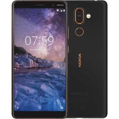 Nokia 7 Plus 4G 64GB Dual SIM NERO black copper 24 MESI garanzia Italia europa