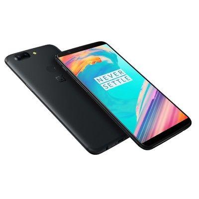 NUOVO ONEPLUS 5T 64GB DUAL SIM 6GB RAM 4G LTE SIM LIBERO NERO MIDNIGHT BLACK