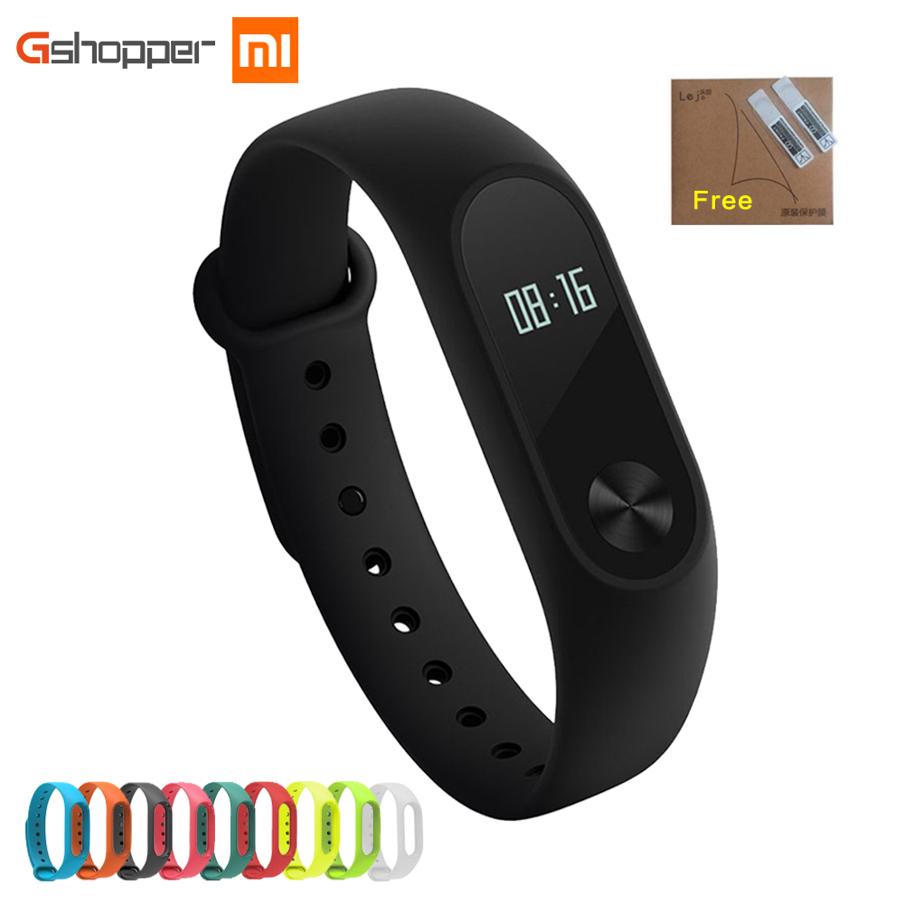 Originale Xiaomi Mi Band 2 Wristband Opzionale Cinghie Colorate Sonno Tracker IP67 Impermeabile Smart Mi Band Per Android IOS Cellulari