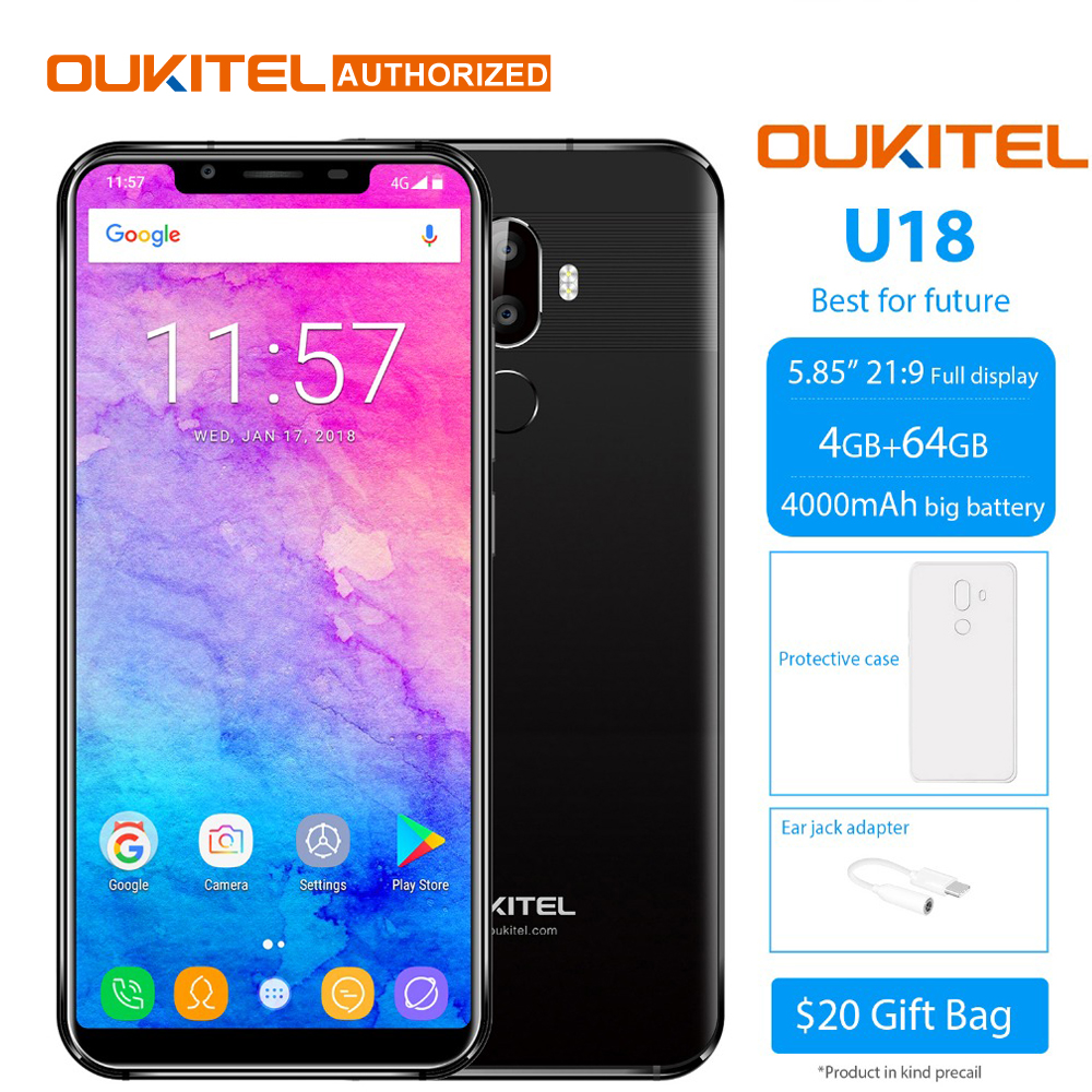 "OUKITEL U18 5.85 ""21:9 Full HD Display"