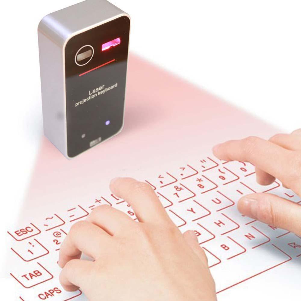 Tastiera Proiezione Laser Bluetooth Con funzione Mouse Per Computer Tablet