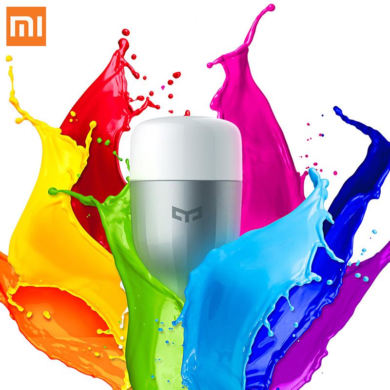 XiaoMi Colorato APP WIFI Telecomando Intelligente HA CONDOTTO LA Luce RGB/temperatura Colorato lampada Romantica lampadina Yeelight XiaoMi