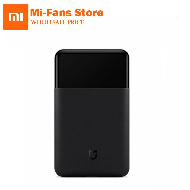 Xiaomi Mijia Rasoio Portatile Rasoio Elettrico Rasoi Ricaricabile USB 60HRC Giappone Acciaio Mens Viaggio nero IN AZIONE