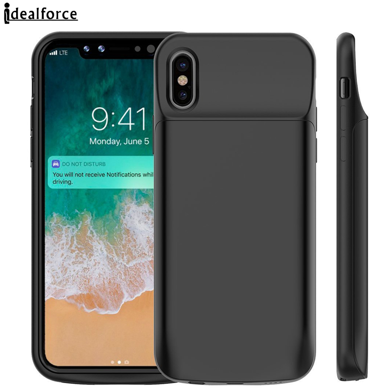 Per iPhone X Cassa di Batteria 3600 mAh/6000 mAh Ricaricabile