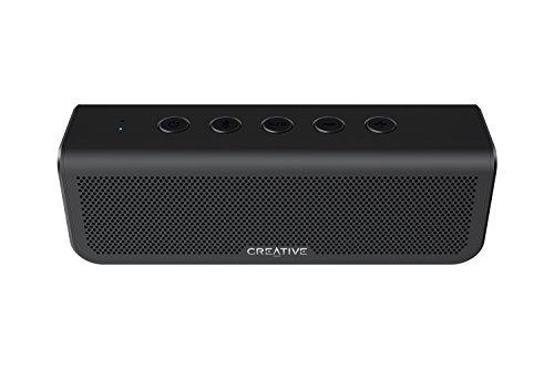 Altoparlante 4.2 Bluetooth portatile e a doppio driver Creative Metallix Plus con una batteria dalla durata di 24 ore, bassi potenziati, impermeabilità IPX5, accoppiamento stereo e vivavoce integrato (nero)