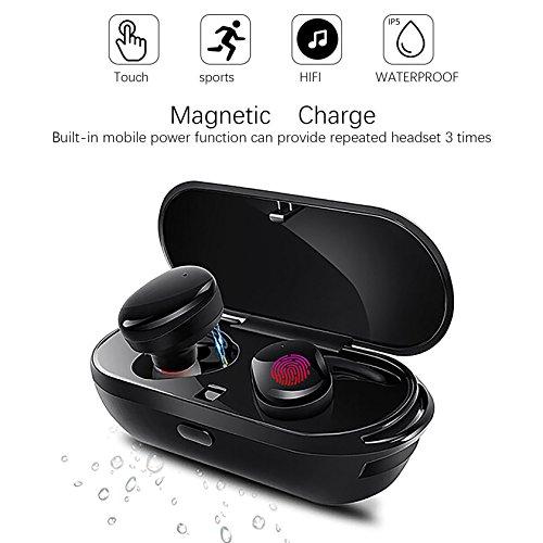 Auricolari Bluetooth Wireless, Stark Mini Cuffie Senza Fili con Scatola di Ricarica Portatile,Impermeabile IPX5 e Microfono Incorporato