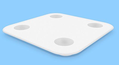 Bilancia Smart Bluetooth Multifunzione Xiaomi Smart Scale 02 con connessione APP Mi Fit per smartphone Ios e Android, misure accurate per massa e peso