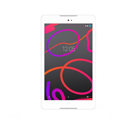 BQ Aquaris M8 - Tablet da 8(Wi-Fi, MediaTek Quad Core, 2GB di RAM, memoria interna da 16GB, Micro SD, fotocamera da 5MP, Android), bianco
