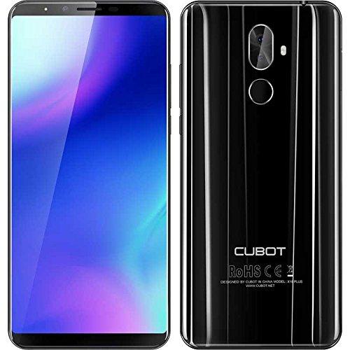 CUBOT X18 PLUS - FHD 5,99 pollici (2160 x 1080) (rapporto 18: 9) Smartphone Android 8.0 4G, Octa-Core da 1,5 GHz 4 GB + 64 GB, fotocamera tripla (20 MP + 2 MP + 13 MP), Batteria 4000 mAh - Nero