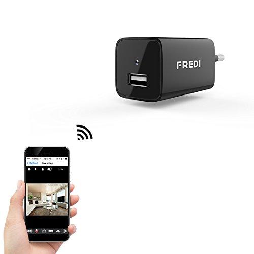 FREDI 1080P HD 128G adattatore caricatore con videocamera nascosta