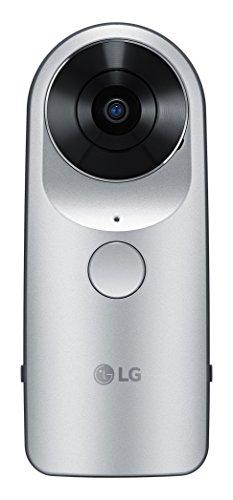 LG 360 CAM Videocamera Sferica Compatta con Doppia Fotocamera da 13 MP, Memoria Interna 4 GB, Colore Argento