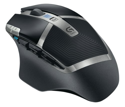 Logitech G602 Wireless Gaming Mouse, Nero/Antracite, Versione Italiana