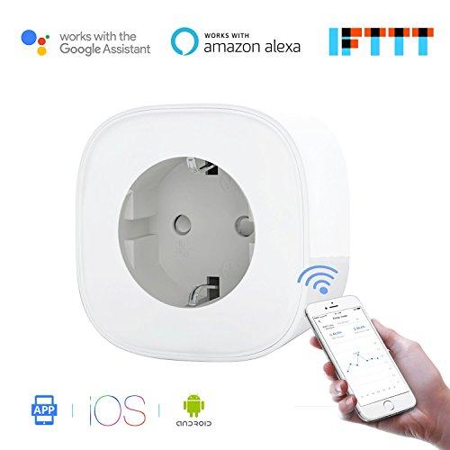 Meross MSS310EU Presa Intelligente (Smart Plug) Wi-Fi da16A (potenza 3680 W). Gestione Elettrodomestici da Remoto tramite App Android e Ios. Compatibile con Alexa, Google Assistant e IFTTT. Nessun Hub Richiesto.