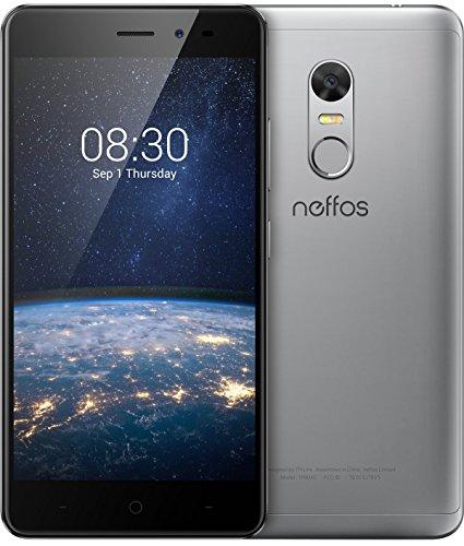 Neffos X1 Lite Smartphone, 16 GB, Grigio (Cloudy Grey)