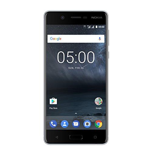 "Nokia 5 Dual SIM 4G 16GB Silver - Smartphones (13.2 cm (5.2""), 16 GB, 13 MP, Android, 7.1.1 Nougat, Silver)"