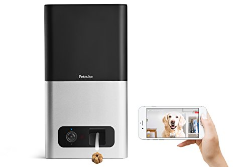 Petcube Bites Pet Camera with Treat Dispenser. HD 1080p Video Camera for Pet Monitoring. Two-Way Audio, Wi-Fi, Night Vision. For Dogs and Cats. Compatible with Alexa