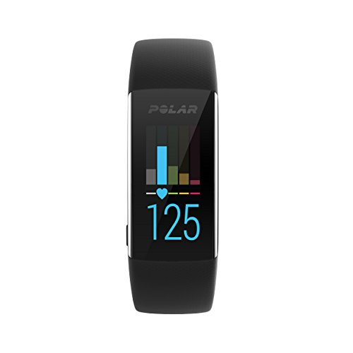 Polar A370, Activity Tracker per Fitness, Monitoraggio Attività Fisica con Cardiofrequenzimetro Integrato, Display Touch Screen Unisex – Adulto, Nero, Medium/Large