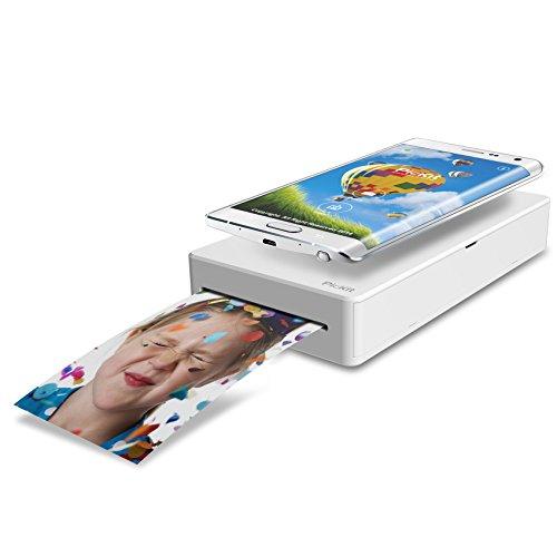 Prinics PicKit M1 Stampante Fotografica a Sublimazione per Smartphone e Tablet, per Stampe 54x86 mm, 291 dpi, Collegamento Wi-Fi ed NFC, Bianco