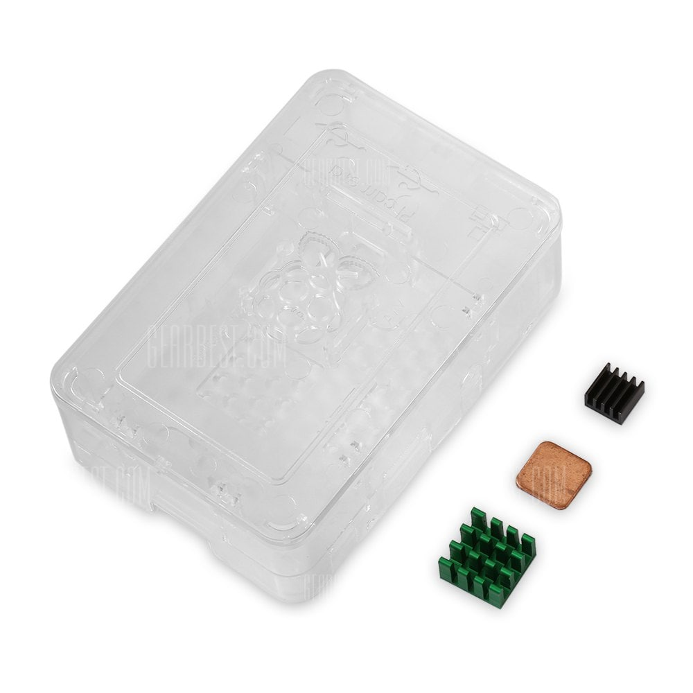 Raspberry Pi Protective Shell Box Kit for Version 3 2 B+
