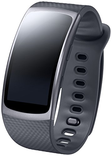 Samsung Gear Fit 2, Display SuperAMOLED, Nero [Versione Italiana]