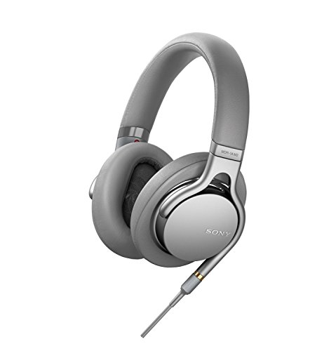 Sony MDR-1AM2 Cuffie Over-Ear, Audio Hi-Res, Controllo Beat Response, Design Leggero, con Cavo Audio in Alta Qualità, Argento