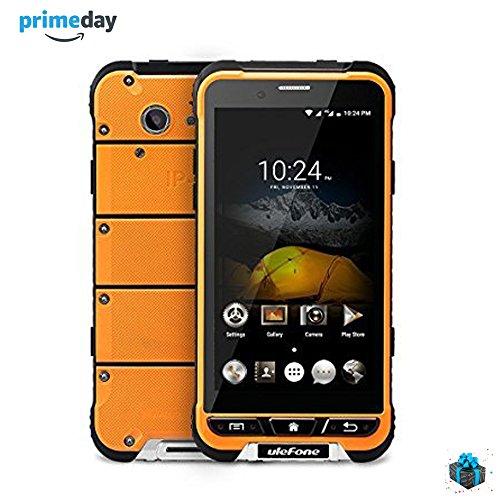 "Ulefone Smartphone Impermeabile 4G 8-Core Tri-Proof 3500mAh Dura Super Lungo 4.7"" Dual SIM 3GB Ram 32GB Rom, Android 6.0, Camera 13.0MP, Italiano (Armor, Arancio)"