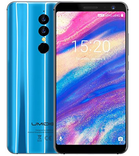 UMIDIGI A1 PRO - 5,5 pollici (rapporto 18: 9) HD + smartphone Android 8.1 Dual 4G, MTK6739 Quad Core da 1,5 GB a 3 GB + 16 GB, fotocamera tripla, riconoscimento facciale, batteria 3150 mAh - Blu