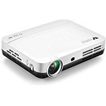 WOWOTO Proiettore DLP, 2000lumen Videoproiettore 3D 1280x800 Supporto 1080P Full HD Android 4.4, Keystone, HDMI, WIFI & Bluetooth (H8, bianca)