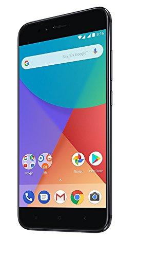 Xiaomi Mi A1 Smartphone da 5,5 pollici Full HD, Snapdragon 625 2 GHz, 4GB RAM, 64 GB ROM, Doppia Fotocamera da 12MP, Android One, Nero [Italia]