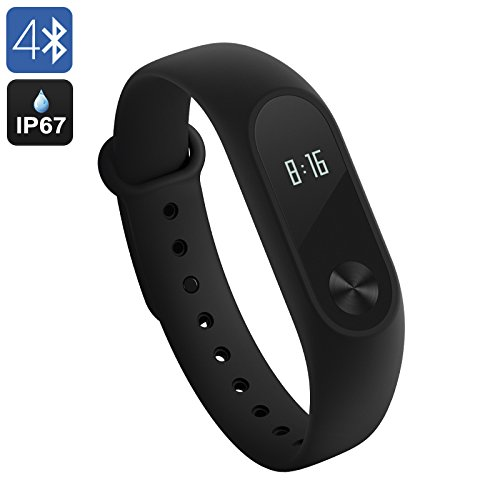 Xiaomi Mi Band 2 Activity Tracker Cardiofrequenzimetro da Polso Braccialetto Fitness Tracker Bluetooth 4,0 Pedometro Monitoraggio del Sonno Impermeabile IP67 per Android e IOS [Versione Globale]