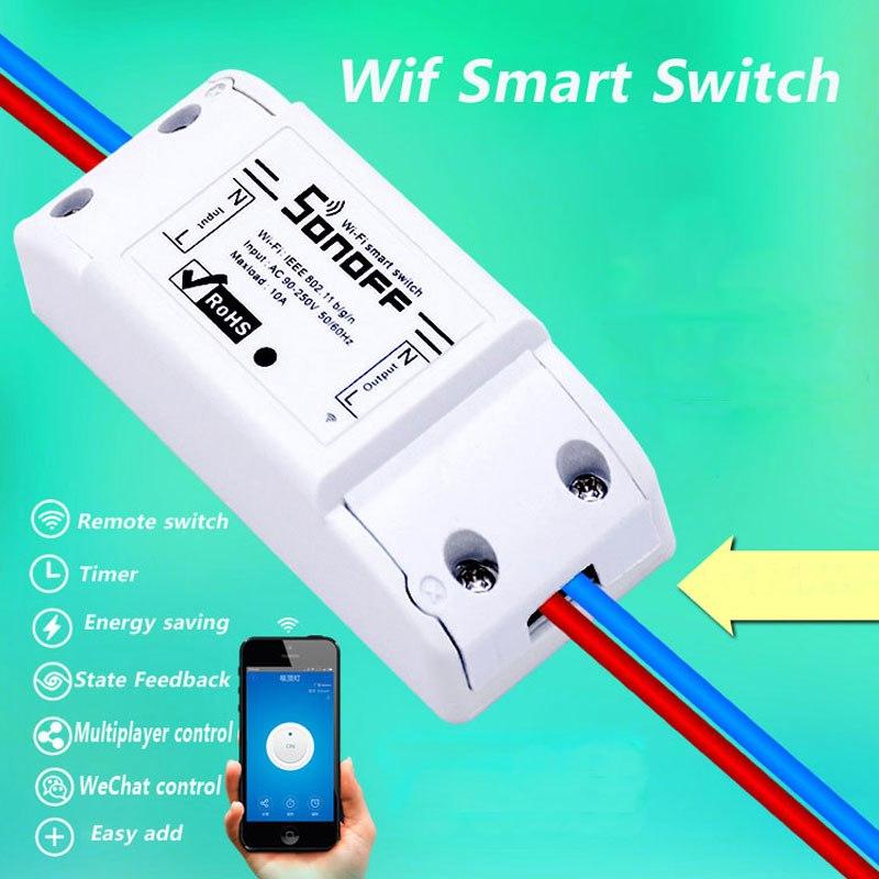 Itead Sonoff Intelligente Telecomando Interruttore Wifi Fai Da Te Timer Switch Wireless, Sonoff S20 UE Presa WiFi Intelligente, Intelligente casa 10A/2200 W