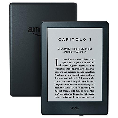 """E-reader Kindle, schermo touch da 6"""" anti riflesso, Wi-Fi (Nero)"""