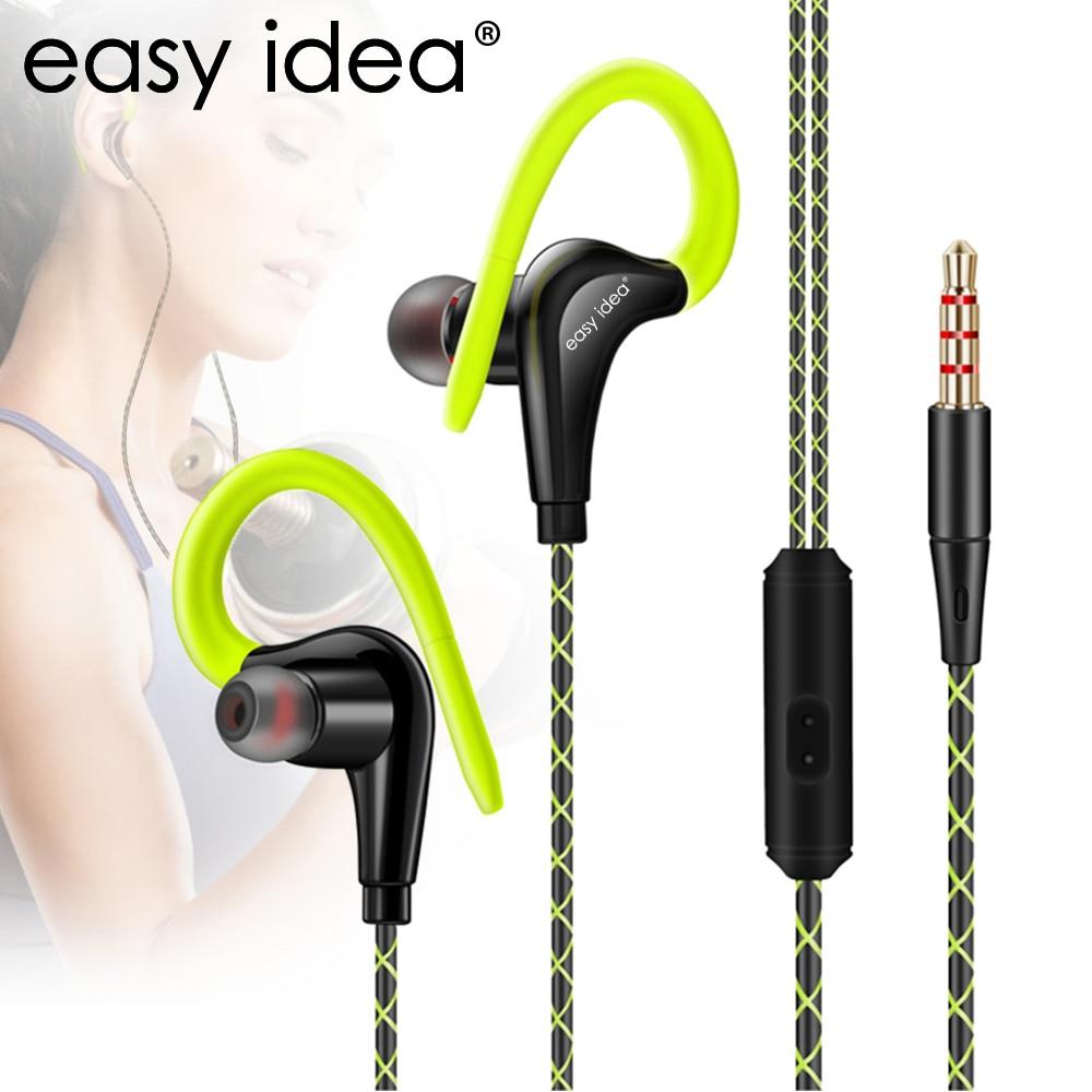 EASYIDEA cuffie HiFi Sport - Sweatproof con microfono