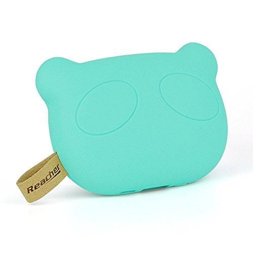Reacher ® mini caricatore portatile cute panda - 5200 mAh (verde)