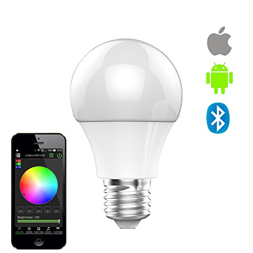 Ake E27 Smart LED Light Bulb Bluetooth Controlled Smart Bulb 4.5W RGBW Lamp Rhythm Flash Screw Light