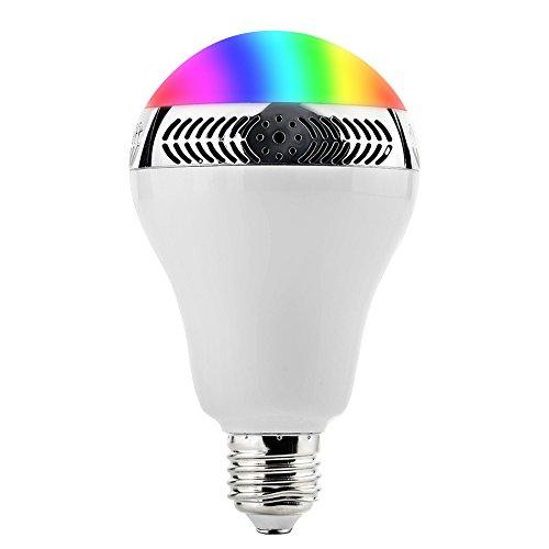 App Bulb Speaker Lampadina con Altoparlante 5W, Playbulb Intelligente,Smart Light, Lampada Bluetooth 4.0 con E27, Cinque Colori Modalità di Illuminazione, Controllato da un Telefono Cellulare o ad Infrarossi, Perfetto per feste o decorazioni Natalizie.