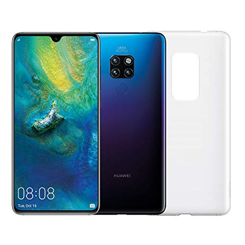 "Huawei Mate 20 (Twilight) più Cover Originale, Telefono con 128 GB, Display 6.53"" Full HD+, Processore Octa Core dinamico con Intelligenza Artificiale"