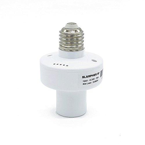 Porta lampada intelligente Sonoff Slampher, 433MHz RF & WiFi Controllo Remoto Porta lampada intelligente Nessun Hub necessario, funziona con Alexa Alexa & Google Home Assistant & IFTTT