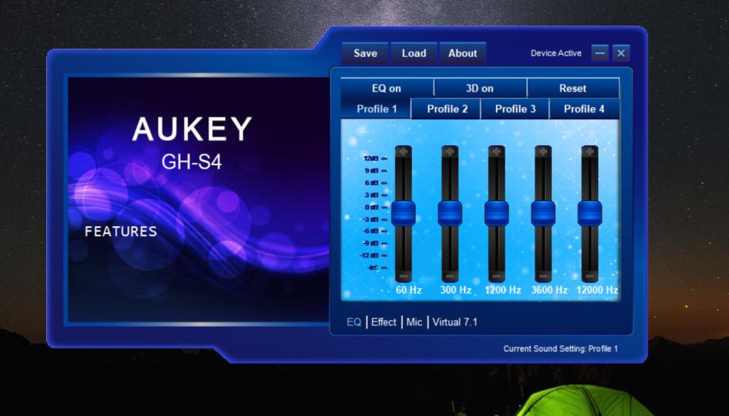 AUKEY Cuffie GH-S4 impostazioni audio