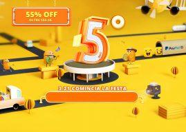 5° Compleanno Gearbest: 55% di sconto e tante promo!
