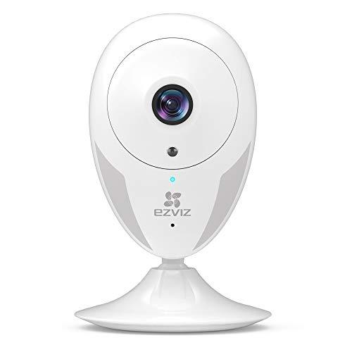 EZVIZ CTQ2C Telecamera di Sorveglianza WiFi 720P telecamera da interno con eccellente visione notturna, avviso del momvimentom audio bidirezionale, compatibile con Alexa, Google Home
