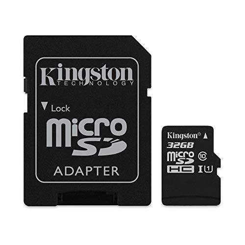 Kingston SDCS/32GB Canvas Select Scheda MicroSD 32 GB, Velocità UHS-I di Classe 10 fino a 80 MB/s in Lettura, con Adattatore SD