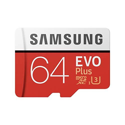 Samsung MB-MC64GA EVO Plus Scheda microSD da 64 GB, UHS-I U3, con Adattatore SD