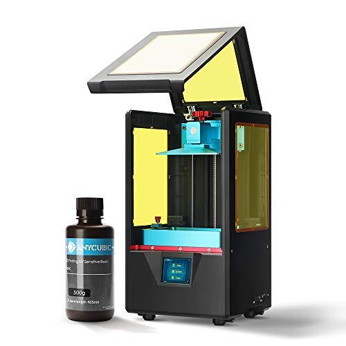 ANYCUBIC Stampante 3D Photon S LCD per Fotopolimerizzante MARS UV doppio asse Z Smart Touch Colori Screen Printer Offline Stampa 3D Dimensioni 115x65x165mm, Nero