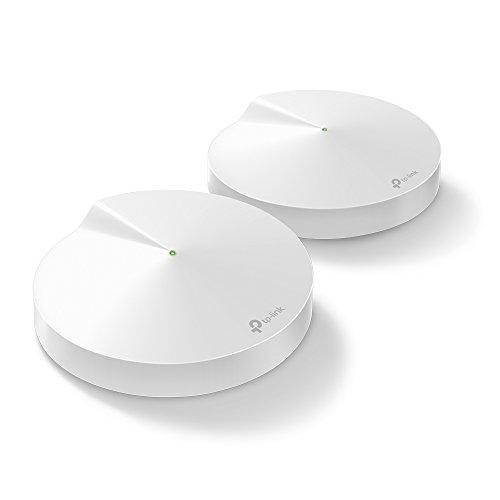 TP-Link Deco P7 Hybrid Wifi Mesh con Powerline - Pacchetto da 2, Wifi AC1300 + Powerline AV600 - Adatto per edifici storici con muri spessi - 2 unità fino a 370 ㎡ - Compatibile Alexa
